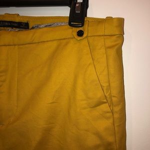 Zara Pants - Zara Basics Yellow Pants